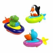 Interesting Creative 1Pc Pulling Toy Swim Water Toys Duck Penguin Crocodile Christmas Funny Gift Present for Kids Children(China)