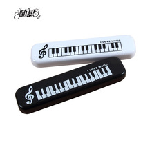 Kawaii  Musical Piano Keyboard Pencil Case Stationery School Supplies Music Pencils bag Storage School-supplies  School Supply