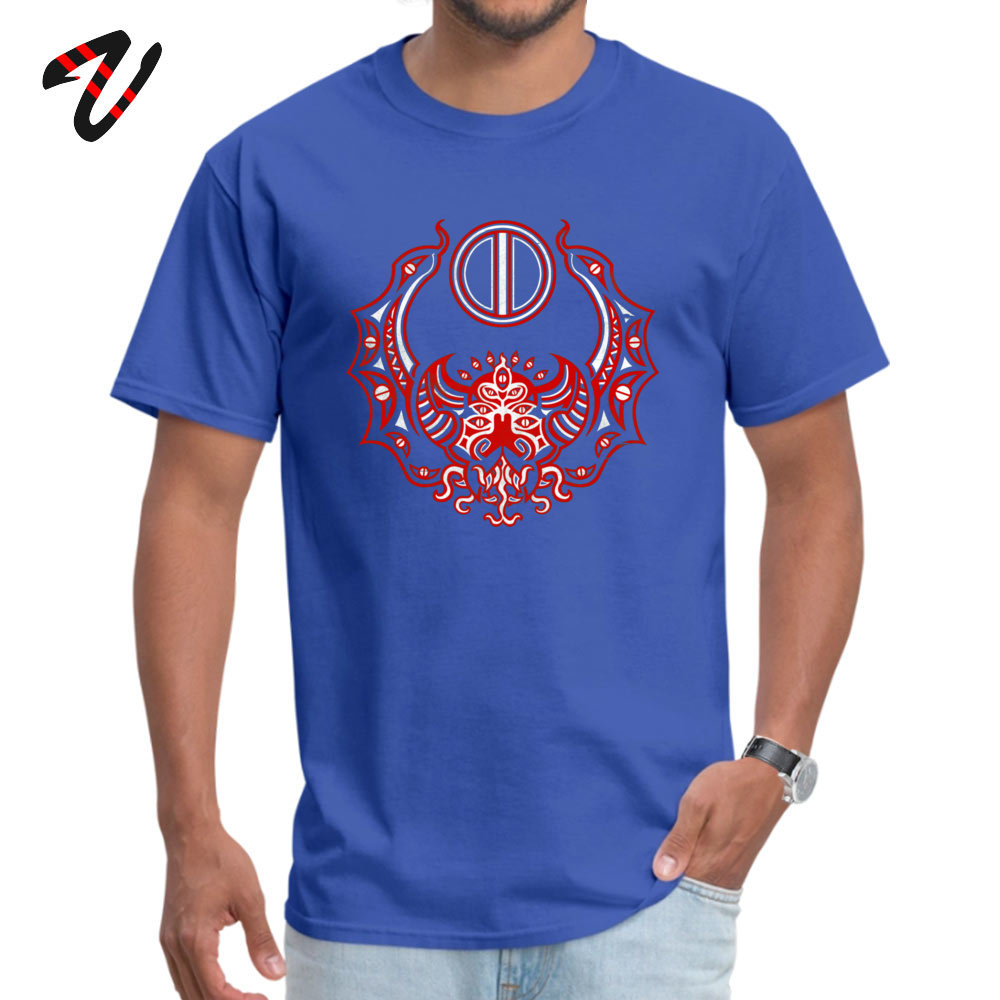Men T Shirts Casual comfortable Tees 100% Cotton Fabric O-Neck Short Sleeve Family Tshirts Summer Drop Shipping The Crimson Bat Steed of the Red Goddess by Kalin Kadiev -500 blue