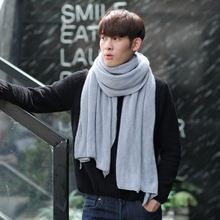 VBIGER Men Women Winter Scarf Fashionable Solid Long Scarf Shawl Male Warm Scarves Shawls(China)
