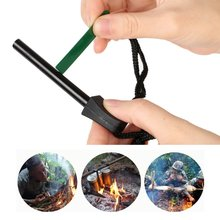 Outdoor Camping Orange Ferrocerium Flint Stone Lighter Magnesium Emergency Survival Tool kit Firelighter