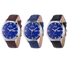 mens watches for sale online Luxury Men's Date&Week Business Leather Stainless Steel Quartz Wrist Watch sport watches for men