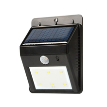New 6 led Outdoor Solar Sensor LED Light, PIR Motion Sensor Detection Range With Dusk to Dawn Dark Sensing Auto On/Off Function(China)