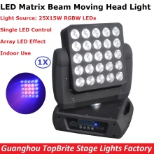 Best Price 25X15W RGBW Quad Color LED Matrix Beam Moving Head Light Professional Dj Disco Party Events Lighting Equipments