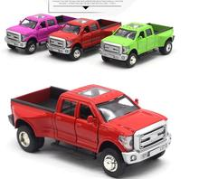 Sale High simulation Ford Raptor F250 pickup,High quality car model,1:32 alloy pull back model,2 open door,free shipping(China)