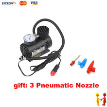 Portable 12V 90W 300PSI Electric Car Tyre Inflator Pump Auto Car Pump 3 Pneumatic Nozzle