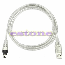 5ft 1.4m USB To Firewire iEEE 1394 4 Pin For iLink Adapter Cable Z17 Drop Ship(China)