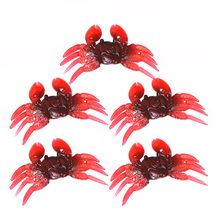 Lixada 5PCS 3D Soft Fishing Lures Crab Artificial Bait Fishing Tackle fishing accessories Carp Fishing Lures Pesca(China)