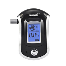 2017 Professional Mini Police Digital LCD Screen Breath Alkohol Alcohol Tester Breathalyzer AT6000 Bafometro Alcoholimetro(China)