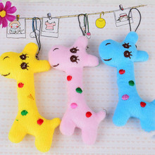 Newest Cartoon Giraffe Plush Small Pendant Dolls Super Kawaii Cute Wedding Gift Plush Keychain Toys Children's Christmas Gift