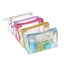 High Quality Transparent Waterproof PVC Cosmetic Bag Envelope Receive Toiletry Bags Makeup Bag Organizer 5 Colors