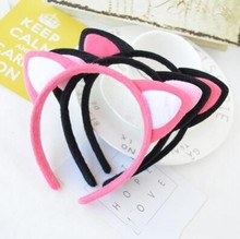 2016 Cute Headwear Heart Cat Ears Headband Character Headbands for Women Party Adult Hello Kitty Hair Accessories Hair bands