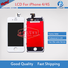 Grade A+++quality LCD Display For iPhone 4S 4 GSM CDMA with Touch Screen Digitizer Replacement 50 pcs/lot DHL Freeship(China)