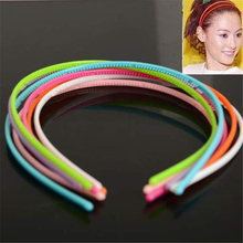 Mixed 50Pcs 4MM Plastic Teeth Lady Girl Headband Hairband Alice Band Children Hair Accessories Candy Color Wholesale