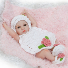 Silicone Reborn Baby Doll Girl Baby Bath Toys Full Body Eyes Close Sleeping Baby Doll with Clothes 10inch 25cm Lifelike New Gift