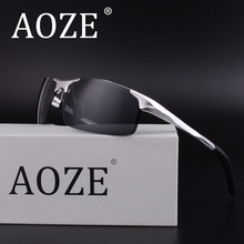 AOZE Luxury Brands Goggles HD Polarized Men women Driver Mirror sun glasses eyeglasses Spring Hinge Gafas Aluminum-magnesium(China)