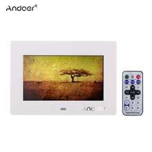 "Andoer  7"" HD TFT LCD Digital Photo Frame 480 * 800  with Slideshow Alarm Clock MP3 MP4 Movie Player with Remote Controller"