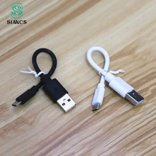 16CM Super Short Powerbank USB Cable Micro USB 8 pin Jack Charger Charging Adapter for Iphone 5 5s 6 6s 7 plus Samsung HTC LG Mi