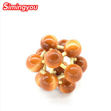 Simingyou Educational Toys Space Ball Hole Lock Intellectual Game Educational Wooden Toys C20-A-349 Drop Shipping(China)