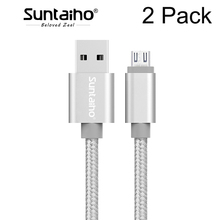 Buy 2 Pack Suntaiho Fast Charge Micro USB Cable Samsung s7 Nylon Micro USB Data Cable Mobile Phone Android Xiaomi HTC LG for $1.98 in AliExpress store