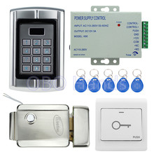 Buy RFID door access control system kit set standalone waterproof keypad card reader+electric lock+ power supply apartment for $85.95 in AliExpress store