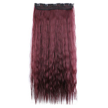 Soloowigs Kinky Curly High Temperature Fiber Women Hairpieces 60cm/24inch 5 Clip-in Synthetic Hair Extension