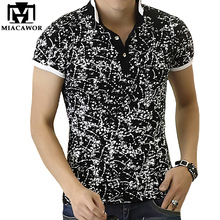 2017 New Men POLO Shirt Fashion Print Polo Homme Slim Fit Summer Short-sleeve Cotton Camisa Polo Brand Clothing MT534