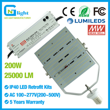 4pcs led parking lot lighting retrofit kit, E39 200 watt led wall pack retrofit kit replace 1000W metal halide