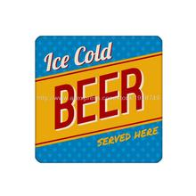 40pcs/set letter ice cold beer cup coaster custom Home Table  Mat Bakery Creative Decor Drink Placemat cork square cup coaster