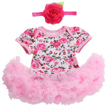 Summer Infant Kids Baby Girl Romper Jumpsuit Tutu Princess Dress Outfit 2017 Girls Rompers Dresses Toddler Birthday Party RP6