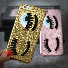 Glitter Bling Chiara Ferragni Miss Gossip Blinking Wink Big Eyes Hard Case Cover iPhone 6G 6S 4.7 Inches - Amy Guo's store
