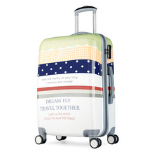 20-inch custom design rod box travel bags character printing boarding luggage box universal wheel men and women