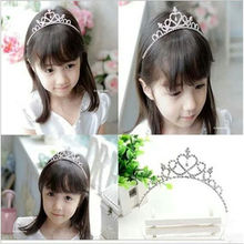 Fashion Girls Rhinestone Princess Crown Headband Tiara Hair Sticks Princess hairband hair accessories hair band