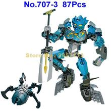 707-3 87pcs Bionicle Cali Master Of Water Building Block Compatible 70786 Brick Toy(China)