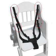 Baby Chair Stroller Pram Buggy Safe Belt Convenient 5-Point Black Harness Strap Children Security Baby Safety Chair Belt(China)