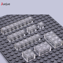 Juejue DIY Block Brick Clear Wall Brick MOC Transparent Building Blocks Parts Compatible with Legoe Creative Kid Toys Gift 80pcs
