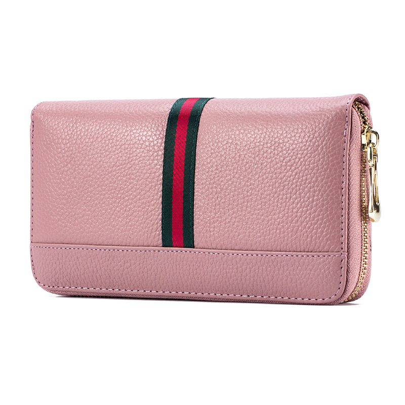 Brand Women Wallet Genuine Leather Clutch Wallet, Female Zipper Long Purse, Lady Multi-function Phone Wallet Card Holder<br><br>Aliexpress