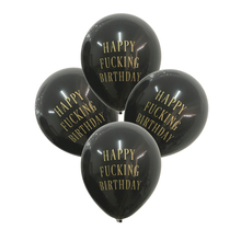 12pcs/lot happy birthday balloons letters printed balloon abusive rude balloon birthday party decorations(China)