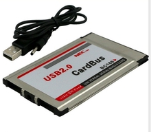 Pcmcia to usb 2 ports usb 2.0 cardbus free shipping(China)