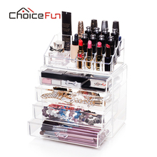 CHOICE FUN Bathroom Extra Large 4 Drawers Storage Box Acrylic Makeup Organizer Multifunction Organizador SF-1029-4(China)
