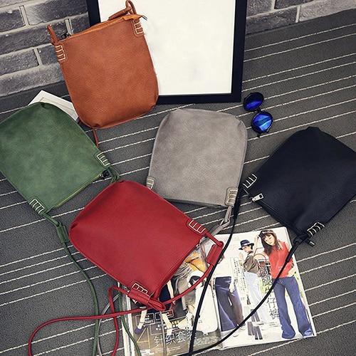 Women Vintage Faux Leather Satchel Crossbody Shoulder Bags Handbag Tote Bag<br><br>Aliexpress