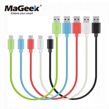 MaGeek 0.3m / 1ft Short Micro USB Cable Fast Charge Mobile Phone Cables for Power Bank Samsung Huawei Xiaomi