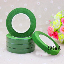 Free Shipping 1PCS/lot 12mm 30 Yards Green Color Paper Tape For Nylon Stocking Flower And Butterfly Accessories DIY Handmade