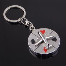 Creative Rotatable Airplane Compass Key Chain Key Holder For Women Party Gift Keyfob Fashion Jewelry Keyfob Bag Accessories