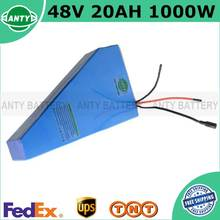 Lithium 1000W 48V 20Ah ebike Battery Triangle Electric Bicycle Battery 48V Built-in 30A BMS With 54.6V 2A Charger FreeShipping