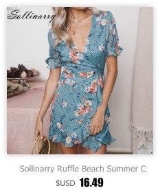 Sollinarry 2019 Spaghhetti Strap Women Dresses Lace Up Cotton Fashion Summer Chic Beach Party Dress Sexy New Vestidos Robe Femme