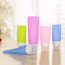 Refillable 3 Size Silicone Travel perfume bottles Shower Packing Bottle Lotion Shampoo Bath Press small sample Container M01855