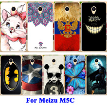 "Flag Pig Butterfly Printed Phone Case For Meizu M5c Meilan 5C Meizu A5 Meizu Charm Blue A5 5.0"" Soft TPU Phone Cover Shield Hood(China)"