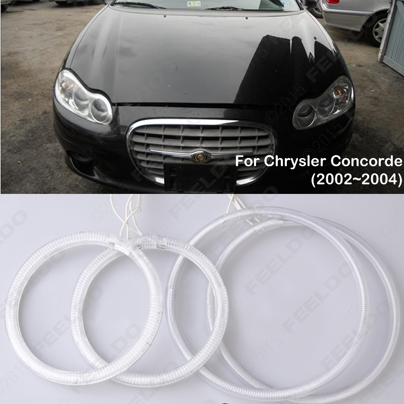 Car 6-Color Headlight CCFL Angel Eyes Halo Rings Kits For Chrysler Concorde (2002-2004) #J-2001<br><br>Aliexpress