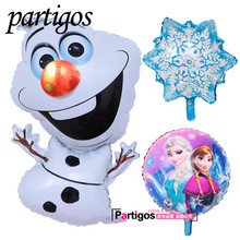 3pcs/lot Olaf balloons Foil princess Helium Balloon Birthday Party Ballons Decoration Snowman 18inch princess globos Supplies(China)